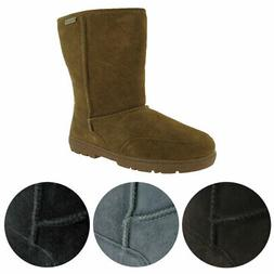 "Bearpaw Meadow Women's Suede Sheepskin Lined 10"" Winter Snow"