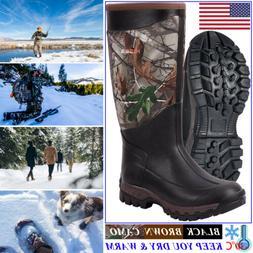 HISEA Men & Women's Arctic Winter Boots Rain Snow Mud Muck W