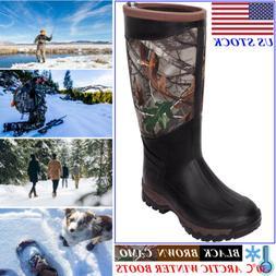 HISEA Men's Boots Waterproof Hunting Boots Arctic Winter Rai