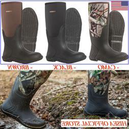 HISEA Men's Boots Waterproof Muck Mud Rain Snow Work Boots f