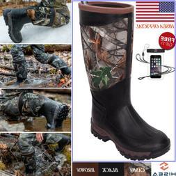 HISEA Men's Boots Waterproof Rain & Snow Winter Boots for Mu