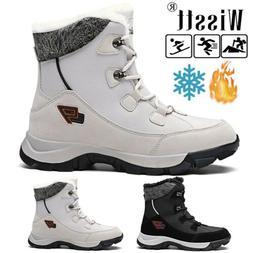 Men's Waterproof Winter Snow Boots Fur Lined Non slip Hiking