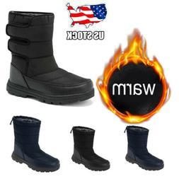 Men's Women's Snow Boots Waterproof Fur Fleece Lined Winter