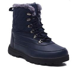 Men Women Winter Snow Boots Water Resistant Lace up Winter S