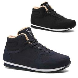 Mens Womens Winter Snow Ankle Boots Fashion Plush High Top S
