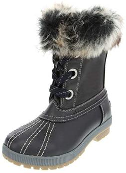 London Fog Milly Cold Weather Watrproof Snow Boot Navy 9