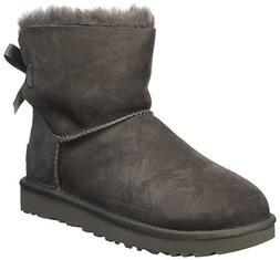 UGG Women's Mini Bailey Bow II Winter Boot, Grey, 9 US/9 B U