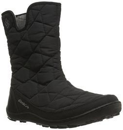 Columbia Women's Minx Slip II Omni-Heat Snow Boot, Black/Qua