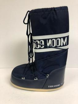 Moon Boot Nylon Blue Snow Boots. Women's Size 11.5/Men's