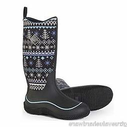 MUCK WOMEN'S HALE BLACK KNIT MULTI SEASON BOOTS WINTER SNOW