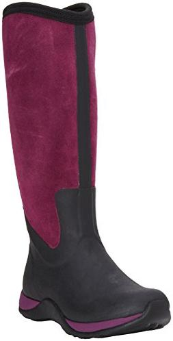 MuckBoots Women's Artic Adventure Suede Zip Snow Boot,Black/
