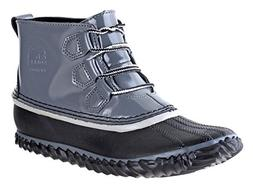 SOREL Womens Out N About Rain Boot, Graphite, 7.5 B US
