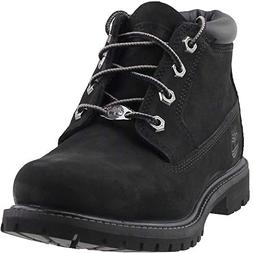 Timberland Women's Nellie Double WP Ankle Boot,Black,9 M US