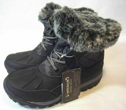 "NEW !! BEARPAW ""Becka"" Black/Gray Waterproof Winter Snow Boo"