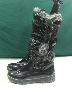 "NEW NATURE BREEZE BLACK  1""BLOCK Heel Snow Knee Sexy Boot WO"