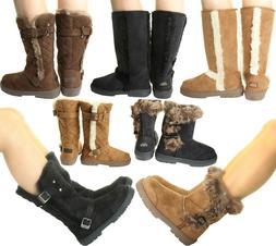 New ELLA Womans Winter Snow Warm Flat Ankle Knee Calf High F