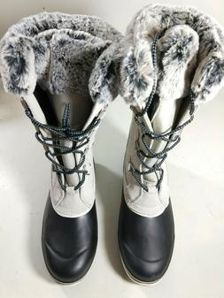 NEW! Khombu Emily Suede Leather Faux Fur Winter Snow Boot Ma