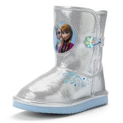 Disney New Frozen Elsa & Anna Toddler Winter Boots Silver
