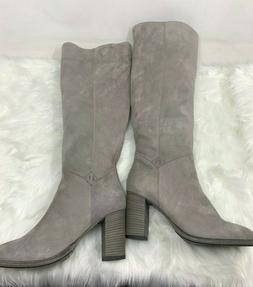 New Ross & Snow Women's Grey Michela Grigio Knee-High Leathe