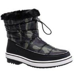 NEW Aleader Terra Camo Waterproof Winter Ankle Snow Boots Wo