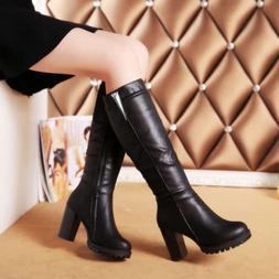 New Women Botas For Snow Boots Women's Knee High Boots Femal