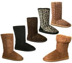 NEW Women/Girls Classic Mid Snow Boots Winter Flat Heel Sho