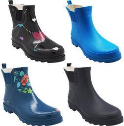 New Norty Women Low Ankle Rain Boots Rubber Snow Rainboot Ga