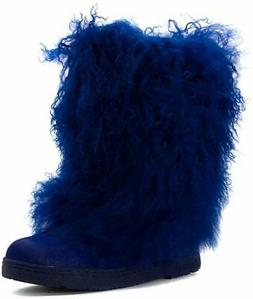 Bearpaw New Women's Boetis II Boot Cobalt Blue Furry Snow Wi