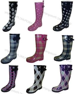New Women's Colors Flat Festival Mid Calf Rubber Snow & Rain