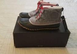 NEW WOMEN'S SOREL FOR J CREW OUT N ABOUT LEATHER SNOW BOOTS