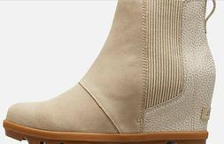 New SOREL Women's Joan of Arctic Wedge II Chelsea Boot Ancie