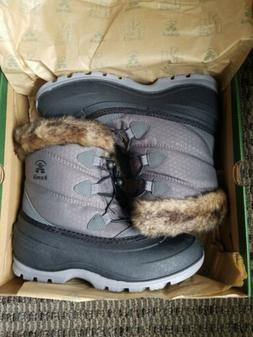 NEW! Kamik Women's Momentum Snow Boots Winter Size 7 Faux Fu