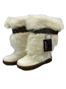 NEW Bearpaw Women's White Snow Calf Skin/Goat Fur Kola II Bo