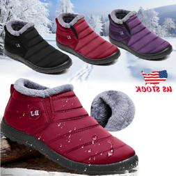 New Women's Winter Snow Ankle Boots Fur Lined Waterproof Out