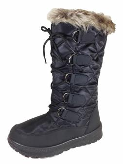 New Women Snow Boots Fur Lined Side Zipper Weather Proof
