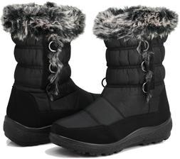 New Women Snow Boots Weather Proof Warm Keeping Side Zipper