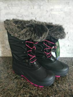 NEW! Women Kamik Winter Snow Boots Powdery2 Size 7 Black Pin