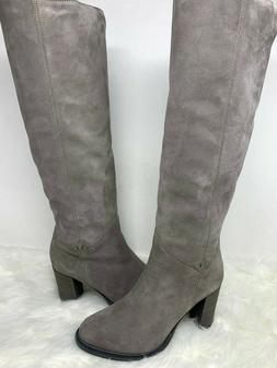NIB Ross & Snow Women's Grey Michela Grigio Knee-High Leathe
