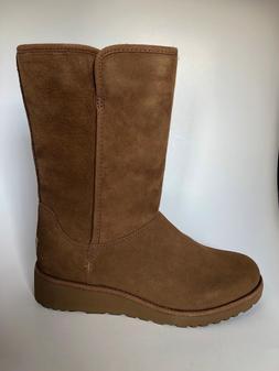NIB - UGG Women's Amie Classic Slim Boots Chestnut Snow Wint