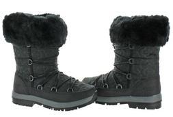 NIB Woman's Size 8 M Black II Wool Bearpaw Leslie Boots Sn