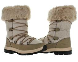 NIB Woman's Size 8 M Taupe Wool Bearpaw Leslie Boots Snow