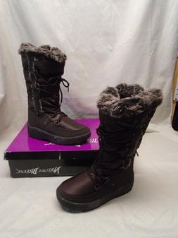 NIB Nature Breeze Women's Frost-01 Brown Nylon Snow Boots Fa