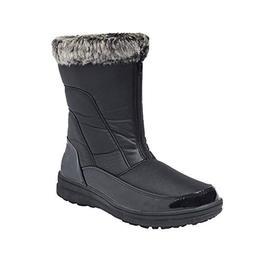 Shenda Women's Patent Mid-Calf Snow Boots Zipped Fur-Lined W