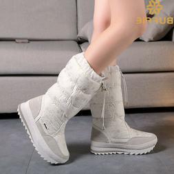 plush ankle boots warm snow ladies shoes
