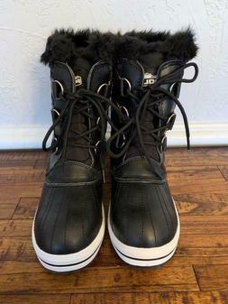 Polar Womens Quilted Short Winter Snow Rain Waterproof Boots