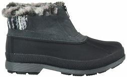 Propet Women's Lumi Ankle Zip Snow Boot, Black/White, 7H, Bl