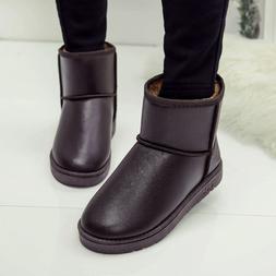 PU leather <font><b>UGGS</b></font> Waterproof Women Gilrs S