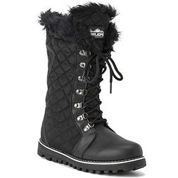 Polar Products Womens Quilted Comfy Winter Rain Warm Snow Kn