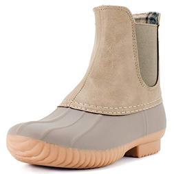 Avanti Women's Rocky Duck Style Heeled Rain Boots - Stone -