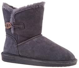 BEARPAW Women's Rosie Snow Boot  US, Charcoal)